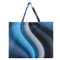 Abstract Pattern Lines Wave Zipper Large Tote Bag