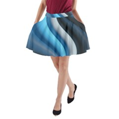 Abstract Pattern Lines Wave A Line Pocket Skirt by Nexatart