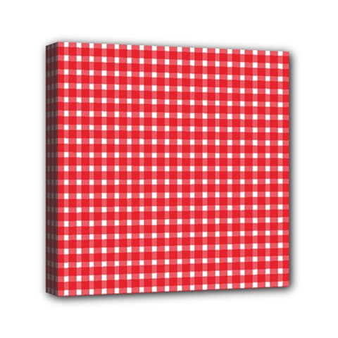 Pattern Diamonds Box Red Mini Canvas 6  X 6  by Nexatart