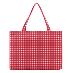 Pattern Diamonds Box Red Medium Tote Bag