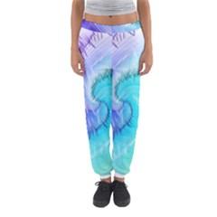 Background Colorful Scrapbook Paper Women s Jogger Sweatpants