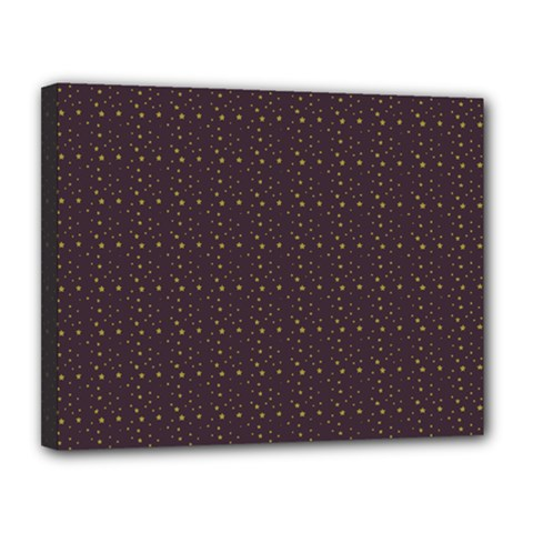 Pattern Background Star Canvas 14  X 11  by Nexatart