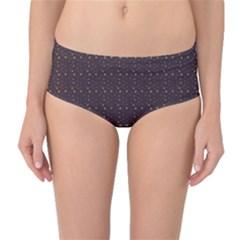 Pattern Background Star Mid Waist Bikini Bottoms