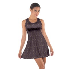Pattern Background Star Cotton Racerback Dress