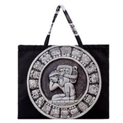 Pattern Motif Decor Zipper Large Tote Bag