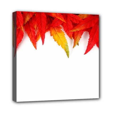 Abstract Autumn Background Bright Mini Canvas 8  X 8