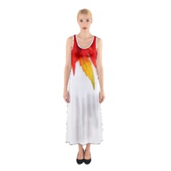 Abstract Autumn Background Bright Sleeveless Maxi Dress