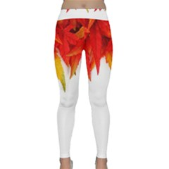 Abstract Autumn Background Bright Classic Yoga Leggings