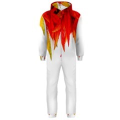 Abstract Autumn Background Bright Hooded Jumpsuit (men)