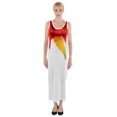 Abstract Autumn Background Bright Fitted Maxi Dress