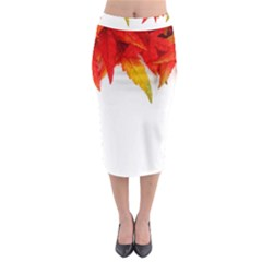 Abstract Autumn Background Bright Midi Pencil Skirt by Nexatart