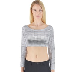 Flooring Household Pattern Long Sleeve Crop Top