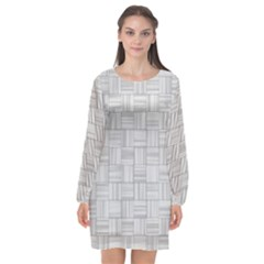 Flooring Household Pattern Long Sleeve Chiffon Shift Dress