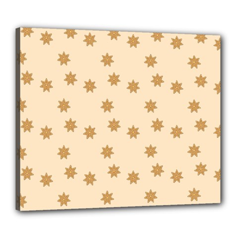 Pattern Gingerbread Star Canvas 24  X 20