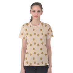 Pattern Gingerbread Star Women s Cotton Tee
