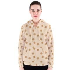 Pattern Gingerbread Star Women s Zipper Hoodie