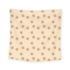 Pattern Gingerbread Star Square Tapestry (small) by Nexatart