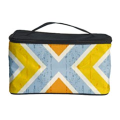 Line Pattern Cross Print Repeat Cosmetic Storage Case by Nexatart