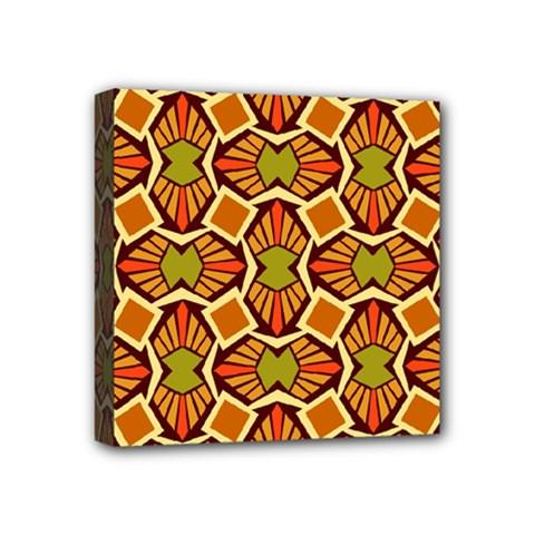 Geometry Shape Retro Trendy Symbol Mini Canvas 4  X 4  by Nexatart