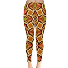 Geometry Shape Retro Trendy Symbol Leggings  by Nexatart
