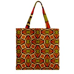 Geometry Shape Retro Trendy Symbol Zipper Grocery Tote Bag by Nexatart