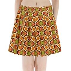 Geometry Shape Retro Trendy Symbol Pleated Mini Skirt