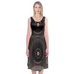 Pattern Design Symmetry Up Ceiling Midi Sleeveless Dress