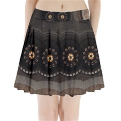 Pattern Design Symmetry Up Ceiling Pleated Mini Skirt