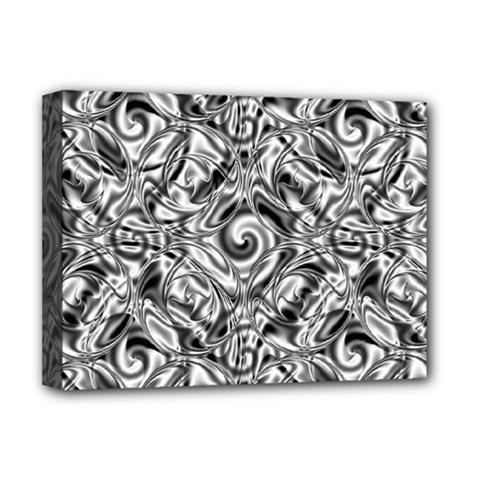 Gray Scale Pattern Tile Design Deluxe Canvas 16  X 12