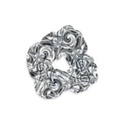 Gray Scale Pattern Tile Design Velvet Scrunchie