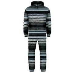 Sheet Holes Roller Shutter Hooded Jumpsuit (men)