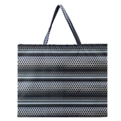 Sheet Holes Roller Shutter Zipper Large Tote Bag