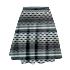 Sheet Holes Roller Shutter High Waist Skirt
