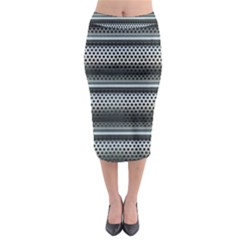 Sheet Holes Roller Shutter Midi Pencil Skirt