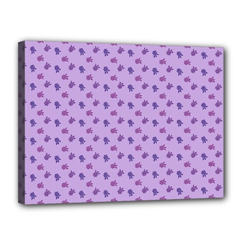 Pattern Background Violet Flowers Canvas 16  X 12  by Nexatart