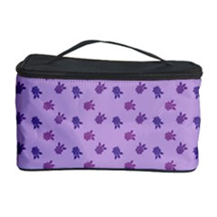 Pattern Background Violet Flowers Cosmetic Storage Case by Nexatart