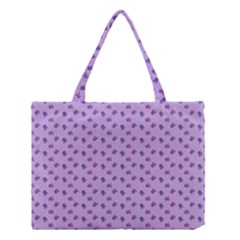Pattern Background Violet Flowers Medium Tote Bag by Nexatart