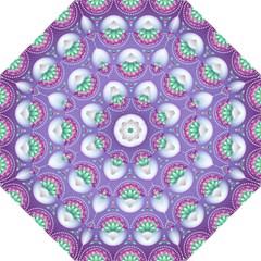 Background Floral Pattern Purple Hook Handle Umbrellas (large) by Nexatart