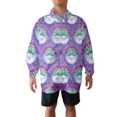 Background Floral Pattern Purple Wind Breaker (kids)