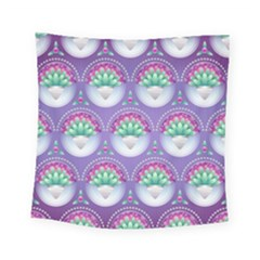 Background Floral Pattern Purple Square Tapestry (small) by Nexatart