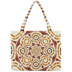 Brown And Tan Abstract Mini Tote Bag by linceazul
