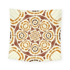 Brown And Tan Abstract Square Tapestry (small) by linceazul