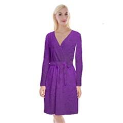 Texture Background Backgrounds Long Sleeve Velvet Front Wrap Dress