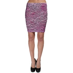 Leaves Pink Background Texture Bodycon Skirt