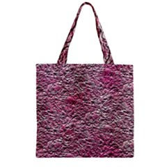 Leaves Pink Background Texture Zipper Grocery Tote Bag by Nexatart