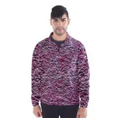 Leaves Pink Background Texture Wind Breaker (men)