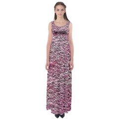 Leaves Pink Background Texture Empire Waist Maxi Dress