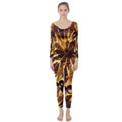Mussels Lamp Star Pattern Long Sleeve Catsuit