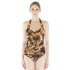 Mussels Lamp Star Pattern Halter Swimsuit
