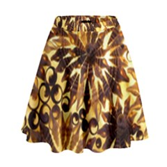 Mussels Lamp Star Pattern High Waist Skirt